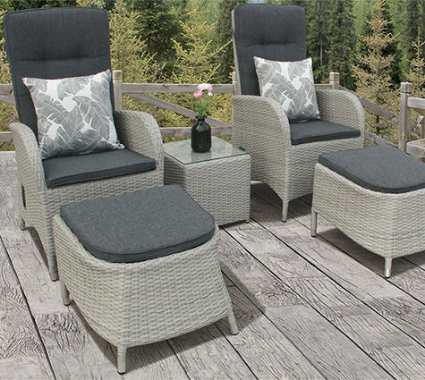 bistro sets with footstools