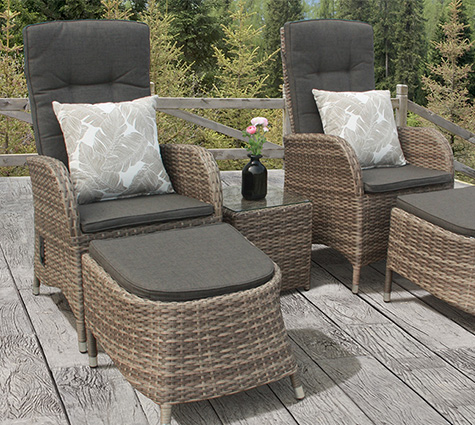 brown bistro sets