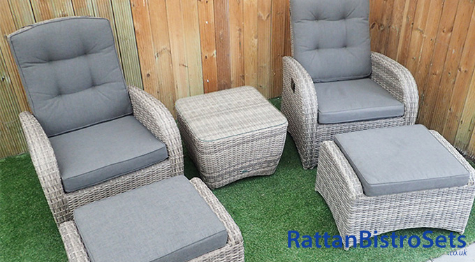 brown rattan bistro sets