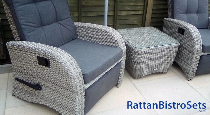 grey rattan bistro sets