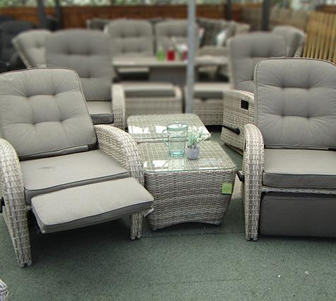 grey bistro sets