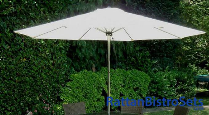 rattan bistro sets with parasols