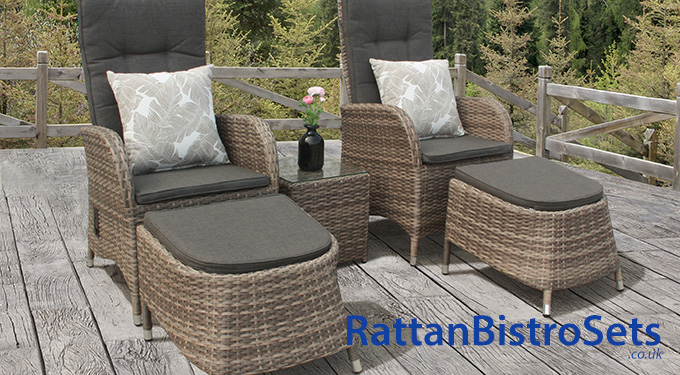 rattan bistro sets with footstools