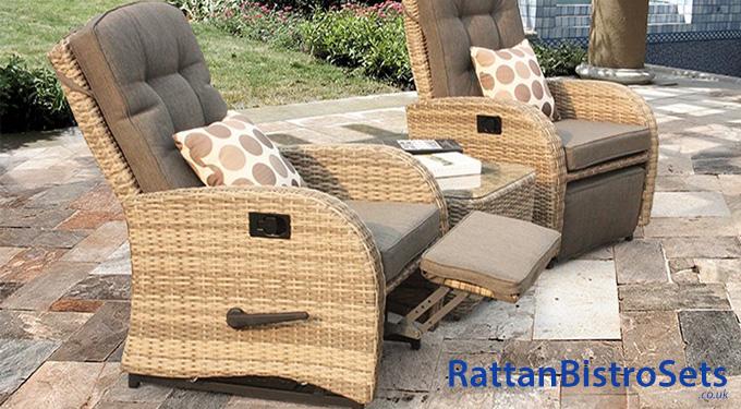reclining rattan bistro sets